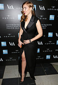 Princess Beatrice of York arrives at the Alexander McQueen Savage Beauty Fashion Gala at the VA presented by American Express and Kering on March 12...