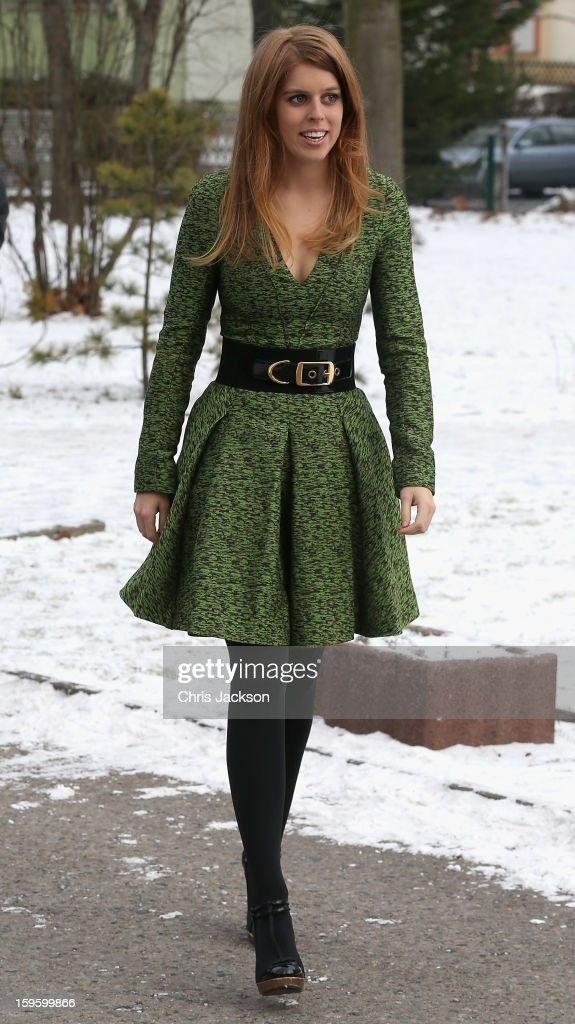 Princess Beatrice of York arrives at the British School in Berlin on January 17, 2013 in Berlin, Germany. The royal sisters are in Berlin supporting the government's GREAT initiative, promoting the UK abroad. They will visit Hanover tomorow as part of a two-day trip funded by their father the Duke of York.