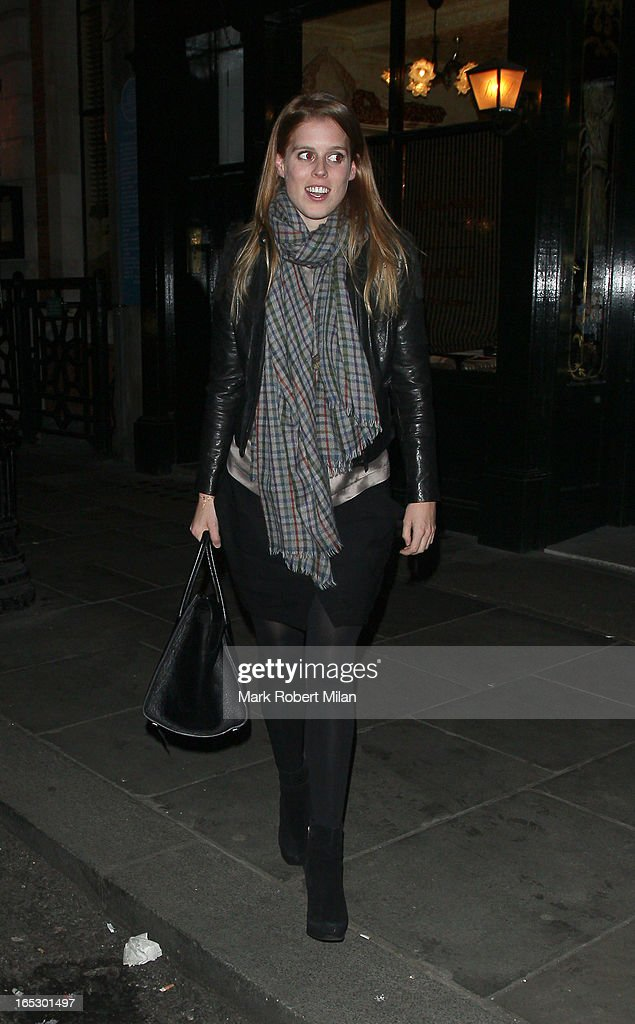 <a gi-track='captionPersonalityLinkClicked' href=/galleries/search?phrase=Princess+Beatrice+of+York&family=editorial&specificpeople=531999 ng-click='$event.stopPropagation()'>Princess Beatrice of York</a> at Balthazar restaurant on April 2, 2013 in London, England.
