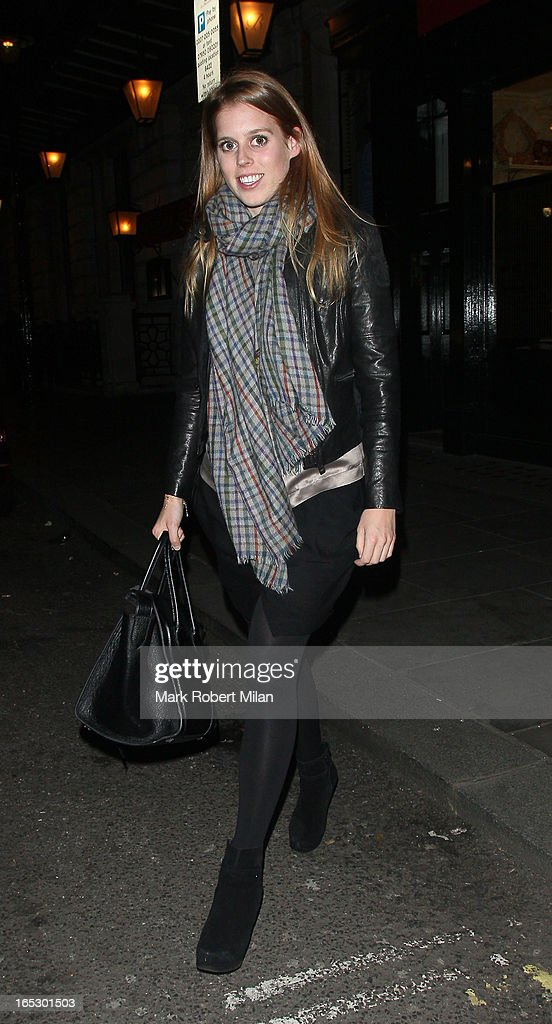 Princess Beatrice of York at Balthazar restaurant on April 2, 2013 in London, England.