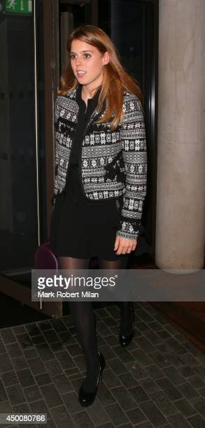 Princess Beatrice of York at Roka restaurant on June 4 2014 in London England