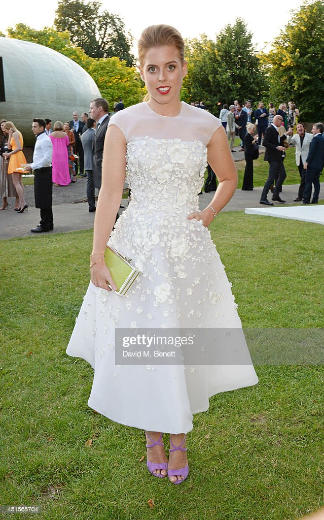<a gi-track='captionPersonalityLinkClicked' href=/galleries/search?phrase=Princess+Beatrice+of+York&family=editorial&specificpeople=531999 ng-click='$event.stopPropagation()'>Princess Beatrice of York</a> attend The Serpentine Gallery Summer Party co-hosted by Brioni at The Serpentine Gallery on July 1, 2014 in London, England.