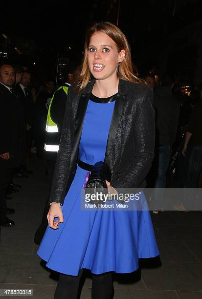 Princess Beatrice of York attending the Karl Lagerfeld Regent Street store opening on March 13 2014 in London England