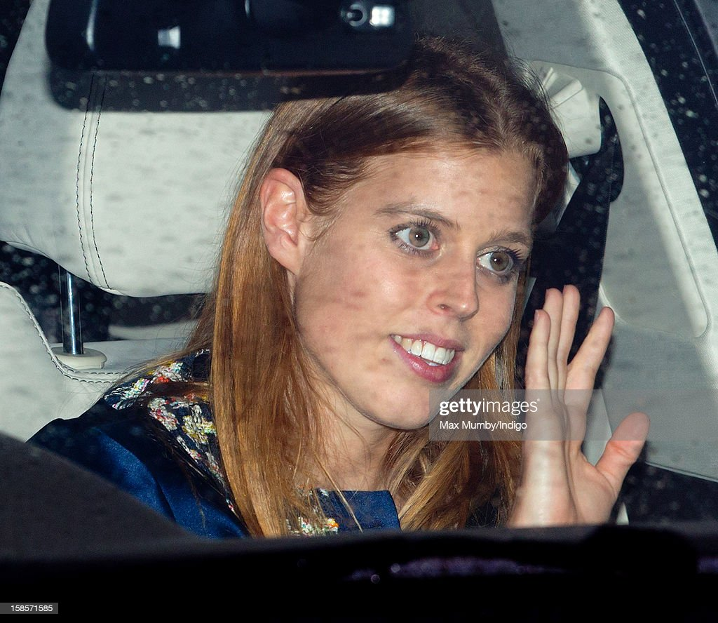 Princess Beatrice of York attends a Christmas lunch for members of the Royal Family hosted by Queen Elizabeth II at Buckingham Palace on December 19, 2012 in London, England.