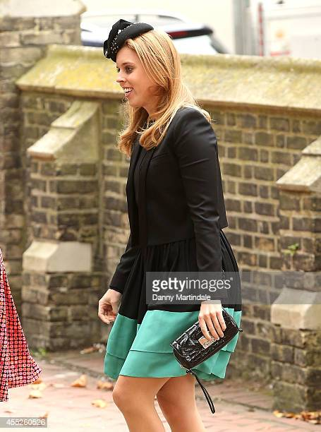 Princess Beatrice of York attends a memorial service for Mark Shand at St Paul's Church on September 11 2014 in London England