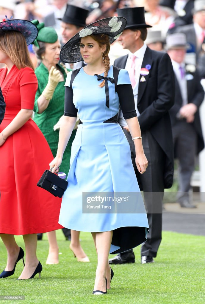 Princess Beatrice of York attends Ladies Day of Royal Ascot 2017 at Ascot Racecourse on June 22, 2017 in Ascot, England.