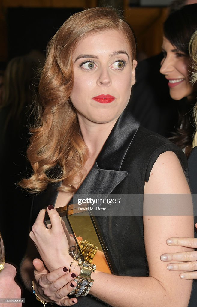 Princess Beatrice of York attends the Alexander McQueen Savage Beauty Fashion Gala at the VA presented by American Express and Kering on March 12...