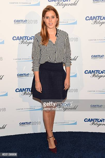 Princess Beatrice of York attends the Annual Charity Day hosted by Cantor Fitzgerald BGC and GFI at Cantor Fitzgerald on September 12 2016 in New...