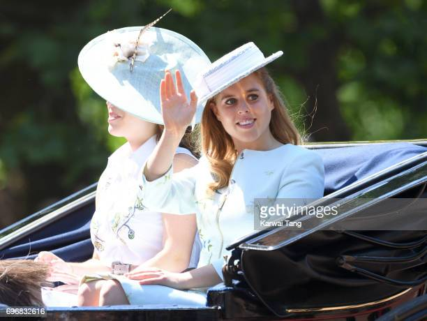 Princess Beatrice of York attends the annual Trooping The Colour parade at the Mall on June 17 2017 in London England