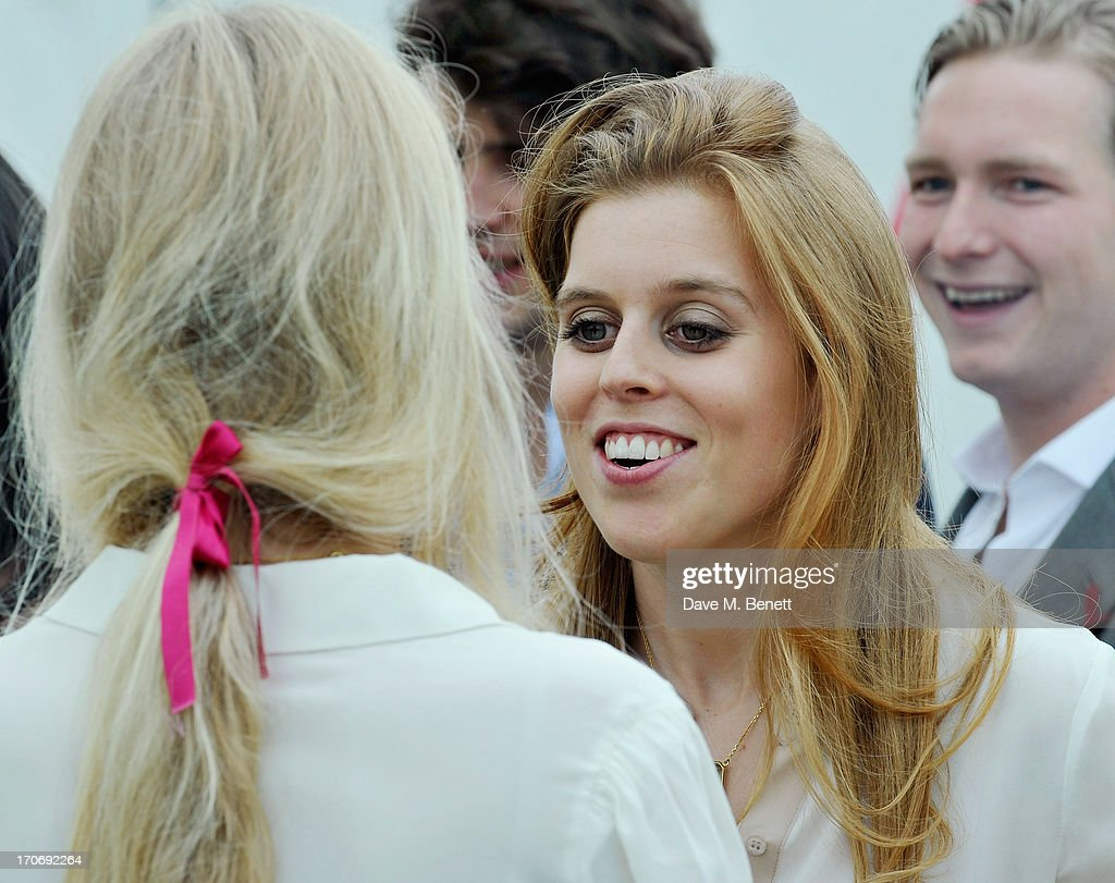 HRH Princess Beatrice of York attends the Cartier Queen's Cup Polo Day 2013 at Guards Polo Club on June 16, 2013 in Egham, England.