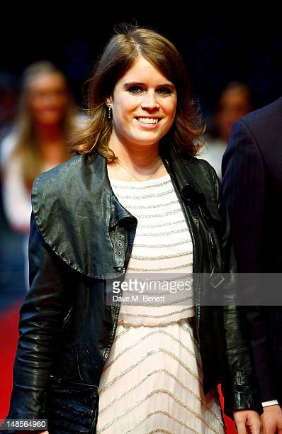 Princess Beatrice of York attends the European Premiere of 'The Dark Knight Rises' at Odeon Leicester Square on July 18 2012 in London England