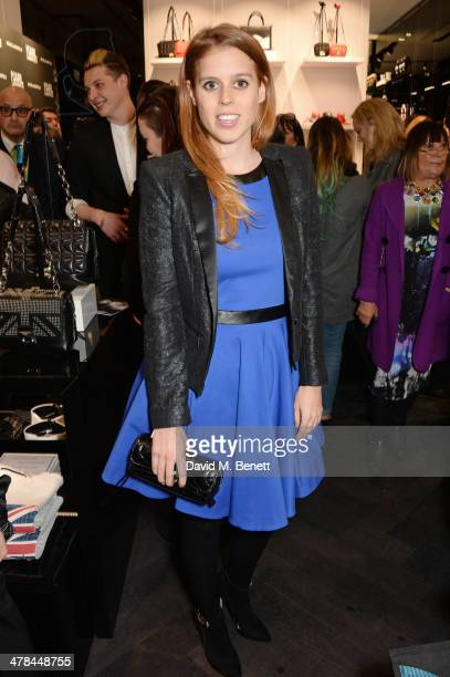 Princess Beatrice of York attends the Karl Lagerfeld European flagship store launch on March 13 2014 in London England