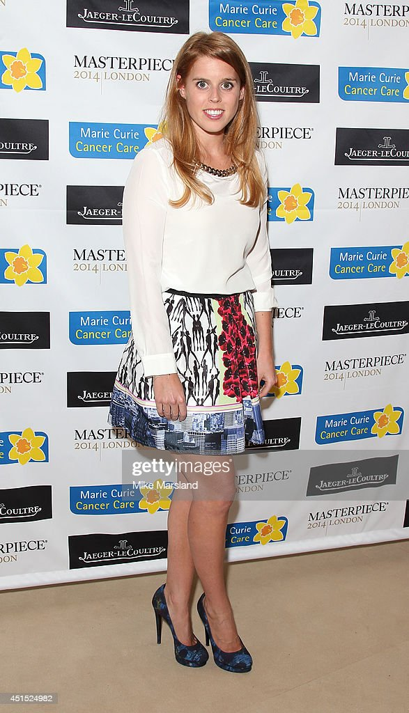 Princess Beatrice of York attends the Masterpiece Marie Curie Summer party in partnership with Jaeger LeCoultre and Heather Kerzner at The Royal...