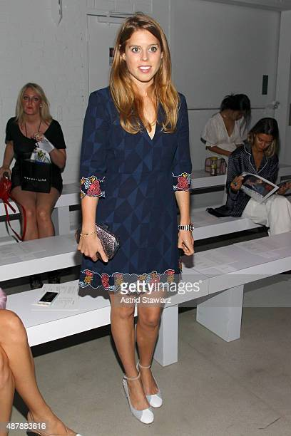 Princess Beatrice of York attends the Rebecca Minkoff Runway Show SS 16 with TRESemme at The Gallery Skylight at Clarkson Sq on September 12 2015 in...