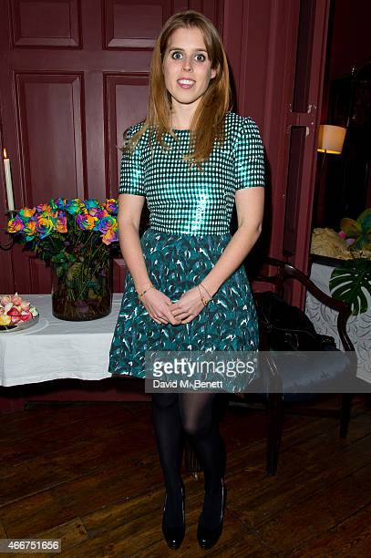 Princess Beatrice of York attends the Saloni Holi colour cocktail party on March 18 2015 in London England