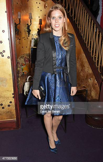 Princess Beatrice of York attends the Walkabout Foundation Event hosted by Dee Ocleppo And Tommy Hilfiger at Loulou's on June 16 2015 in London...