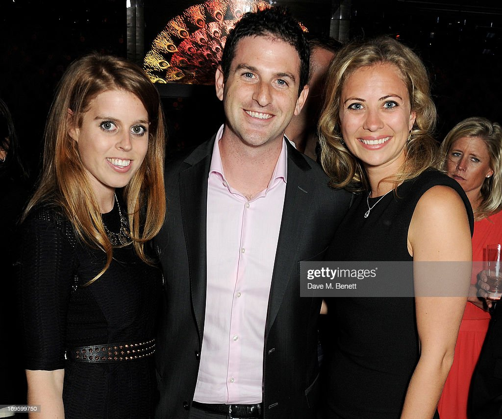 Princess Beatrice of York, Director of Google Ideas Jared Cohen, and Holly Branson attend the launch of 'The New Digital Age: Reshaping The Future Of People, Nations and Business' by Eric Schmidt and Jared Cohen, hosted by Jamie Reuben, at Loulou's on May 28, 2013 in London, England.