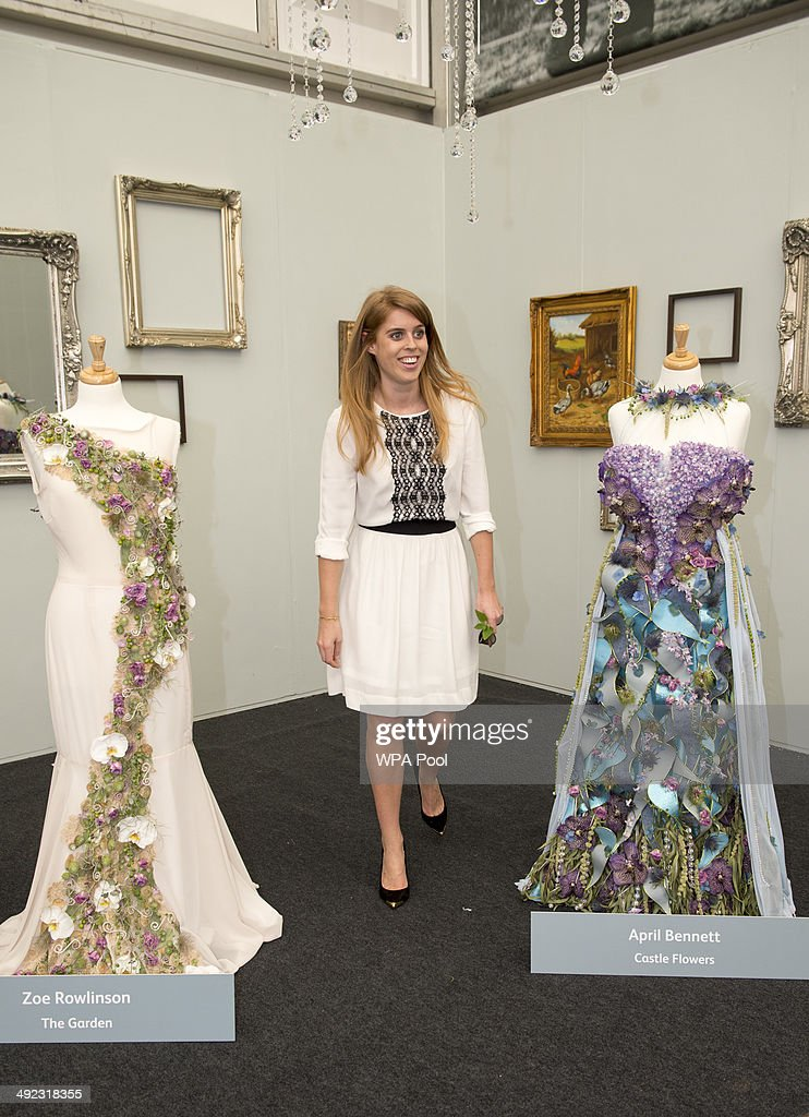 Princess Beatrice of York during a visit to the Chelsea Flower Show on press day on May 19, 2014 in London, England.