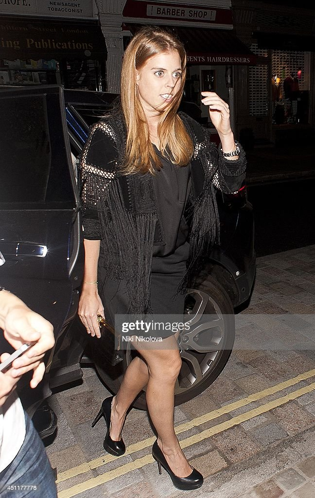 Princess Beatrice of York is seen arriving at the Chiltern Firehouse Marylebone on June 24 2014 in London England