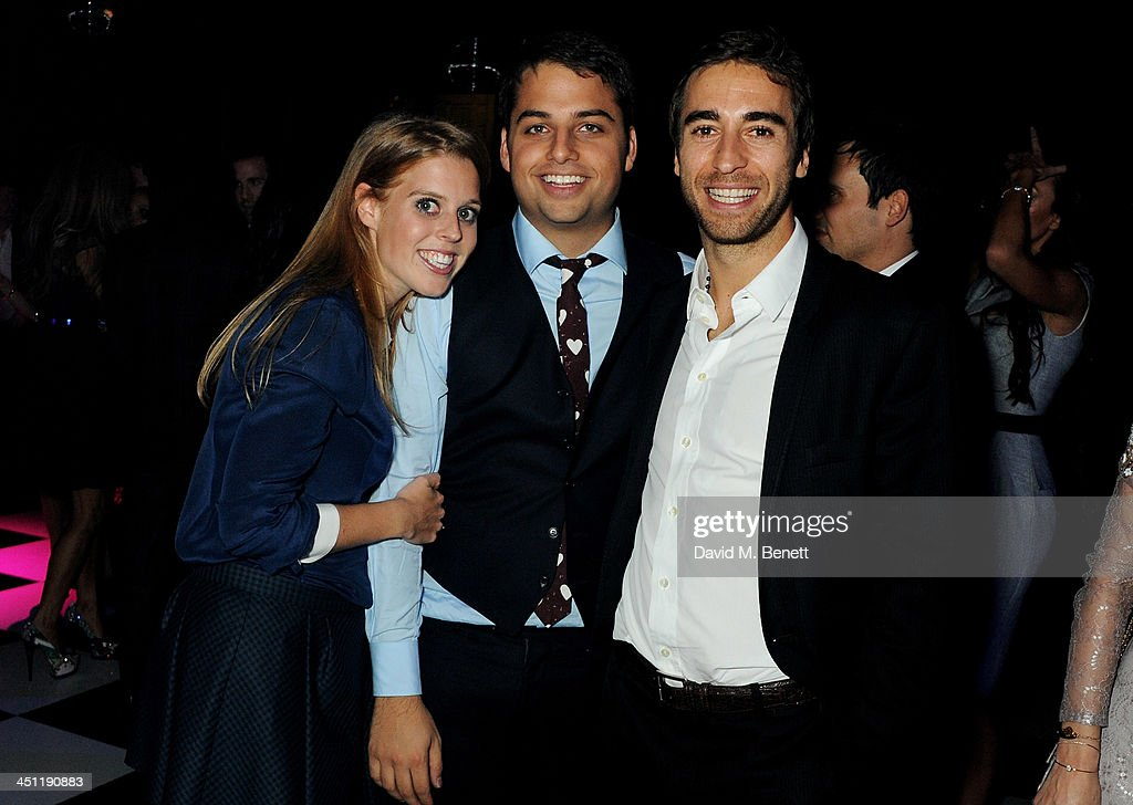 Princess Beatrice of York Jamie Reuben and Mathieu Flamini attend the Adventure in Wonderland Ball held by The Reuben Foundation in aid of Great...