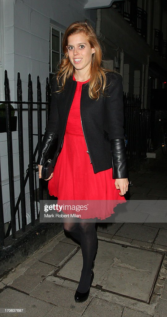 Princess Beatrice of York leaving Little house on June 15, 2013 in London, England.