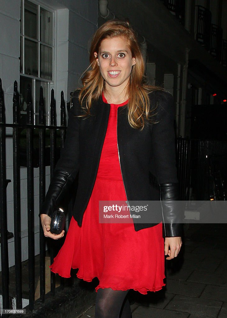 <a gi-track='captionPersonalityLinkClicked' href=/galleries/search?phrase=Princess+Beatrice+of+York&family=editorial&specificpeople=531999 ng-click='$event.stopPropagation()'>Princess Beatrice of York</a> leaving Little house on June 15, 2013 in London, England.