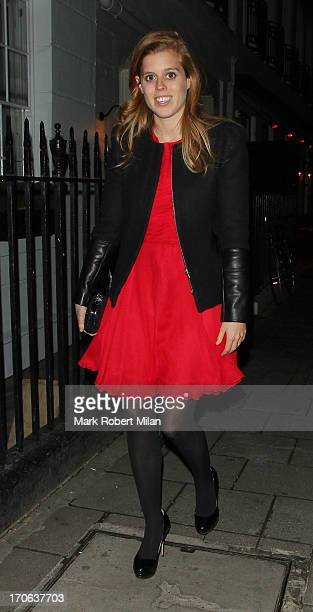 Princess Beatrice of York leaving Little house on June 15 2013 in London England