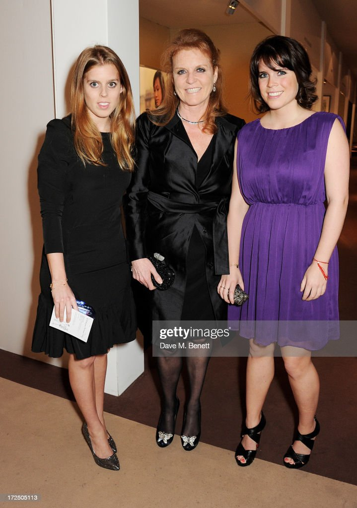 Princess Beatrice of York, <a gi-track='captionPersonalityLinkClicked' href=/galleries/search?phrase=Sarah+Ferguson+-+Duchess+of+York&family=editorial&specificpeople=160596 ng-click='$event.stopPropagation()'>Sarah Ferguson</a>, Duchess of York, and <a gi-track='captionPersonalityLinkClicked' href=/galleries/search?phrase=Princess+Eugenie&family=editorial&specificpeople=160237 ng-click='$event.stopPropagation()'>Princess Eugenie</a> of York attend The Masterpiece Midsummer Party in aid of Marie Curie Cancer Care, hosted by Heather Kerzner, at The Royal Hospital Chelsea on July 2, 2013 in London, England. Marie Curie Nurses provide free end of life care to patients with terminal illness in their own homes or in one of its nine hospices.