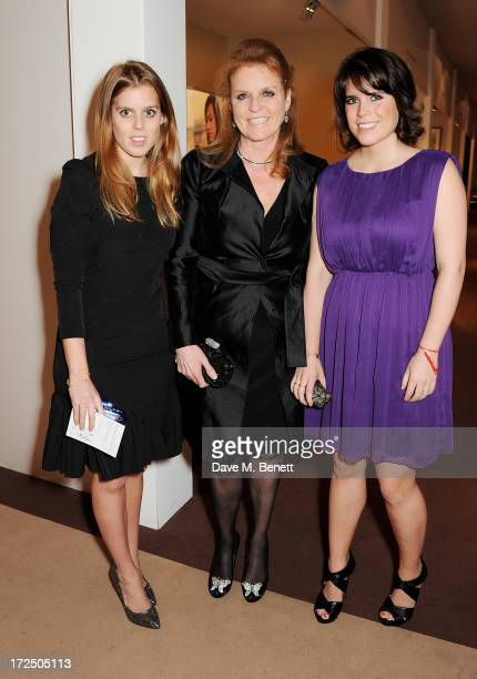 Princess Beatrice of York Sarah Ferguson Duchess of York and Princess Eugenie of York attend The Masterpiece Midsummer Party in aid of Marie Curie...