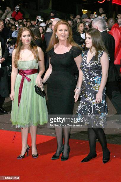 Princess Beatrice Sarah Ferguson Duchess of York and Princess Eugenie