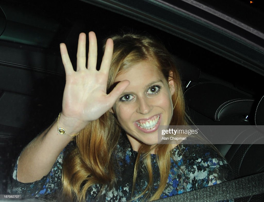 Princess Beatrice sighting at the British Fashion Awards on November 27, 2012 in London, England.