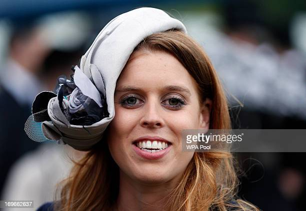 Princess Beatrice smiles during a garden party held at Buckingham Palace on May 30 2013 in London England