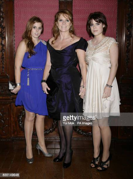 Princess Beatrice The Duchess of York Sarah Ferguson and Princess Eugenie attend the after party for the world premiere of The Young Victoria held at...