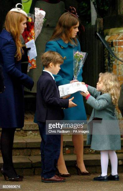 Princess Beatrice Viscount Linley and Lady Sarah Chatto's son Arthur ArmstrongJones Princess Eugenie and Viscount Linley and Lady Sarah Chatto's...