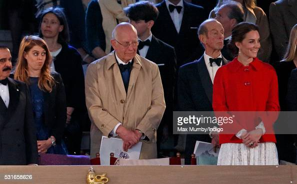 Princess BeatricePrince Ludwig of Baden and Prince Edward Duke of Kent with Catherine Duchess of Cambridge attend the final night of The Queen's 90th...
