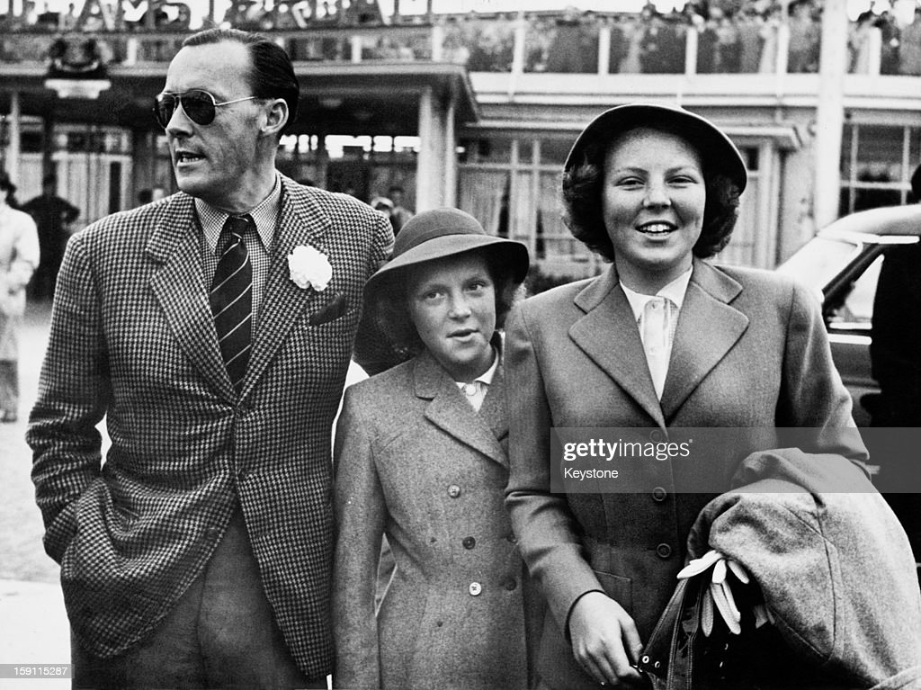 Princess Beatrix later Queen Beatrix of the Netherlands and her sister Princess Irene arrive at Amsterdam airport after a holiday in Canada and the...