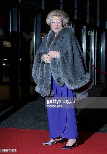 Princess Beatrix of The Netherlands and Rotterdam Mayor Ahmed Aboutaleb arrive to attend a celebration of the reign of Princess Beatrix on February 1...