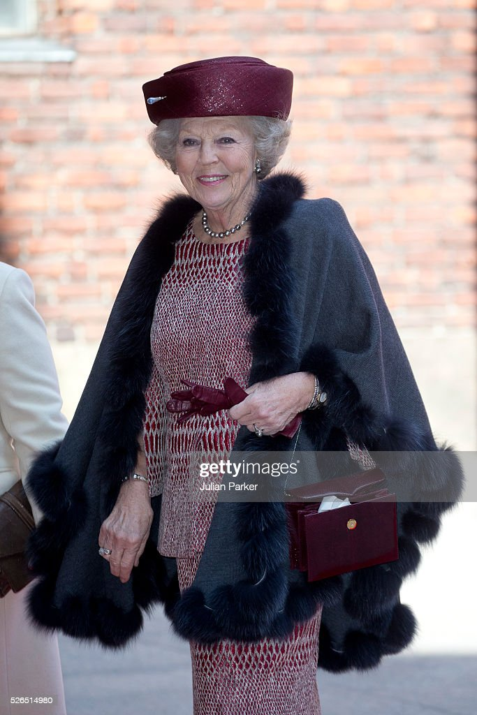 Princess Beatrix of the Netherlands attends a Lunch at City Hall Stockholm, on the occasion of King Carl Gustaf of Sweden's 70th Birthday, on April 30, 2016, in Stockholm, Sweden.