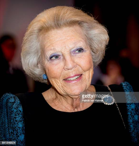 Princess Beatrix of The Netherlands attends the dance event 'Free to Move' at the Zuiderstrandtheater on August 31 2017 in The Hague Netherlands The...