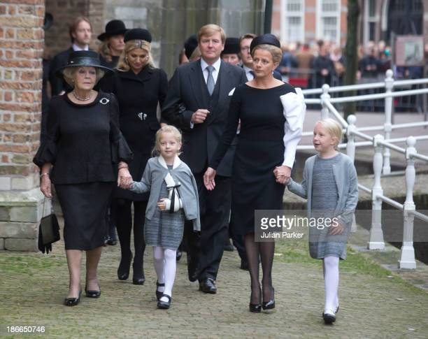 Princess Beatrix of the Netherlands King Willem of the Netherlands and Queen Maxima of the Netherlands Princess Mabel of the Netherlands with her two...