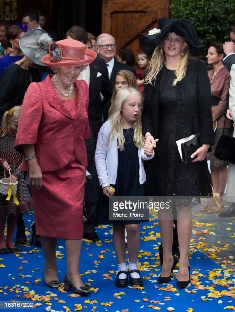 Princess Beatrix of The Netherlands Princess Luana and Princess Mabel of The Netherlands attend the wedding of Prince Jaime de Bourbon Parme and...