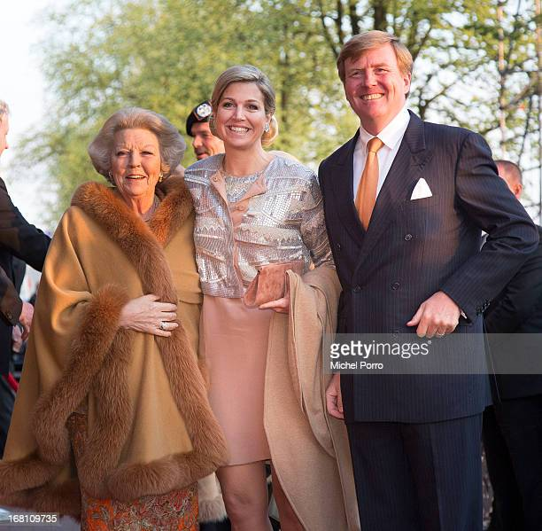 Princess Beatrix of the Netherlands Queen Maxima of the Netherlands and King WillemAlexander of The Netherlands attend the Freedom Concert on May 5...