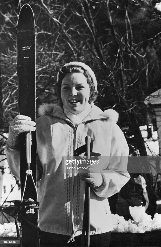 Princess Beatrix of the Netherlands skiing in St Anton Austria 11th February 1959