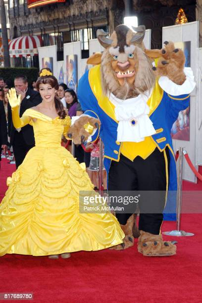 Princess Belle and The Beast attend WALT DISNEY STUDIOS HOME ENTERTAINMENT HOSTS A SINGALONG PREMIERE OF BEAUTY AND THE BEAST at El Capitan Theatre...