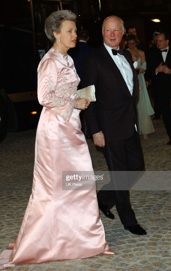 Princess Benedicte of Denmark attends a dinner and party at the Royal Palace in honor of the wedding of Dutch Crown Prince WillemAlexander and Maxima...
