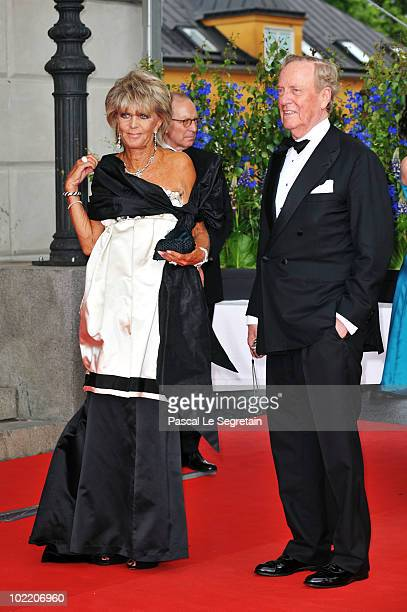 Princess Benedikte and Prince Richard zu SaynWittgensteinBerleburg attend the Government PreWedding Dinner for Crown Princess Victoria of Sweden and...