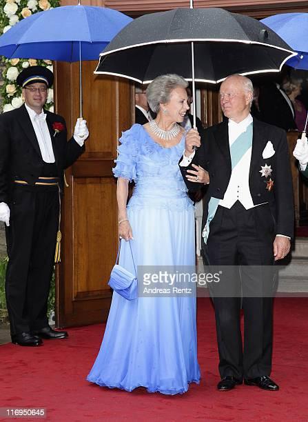 Princess Benedikte of Denmark and Richard Prince zu SaynWittgensteinBerleburg attend the wedding of Princess Nathalie zu SaynWittgensteinBerleburg...