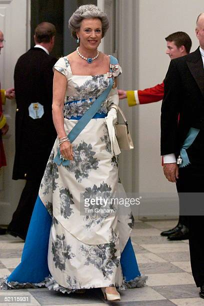 Princess Benedikte Of Denmark Attending A Reception At The Christiansborgs Palace To Celebrate The Forthcoming Marriage Of The Crown Prince And Mary...
