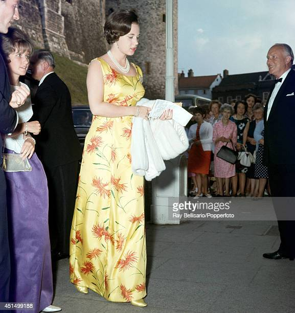 Princess Benedikte of Denmark attending the theatre in Windsor circa 1962