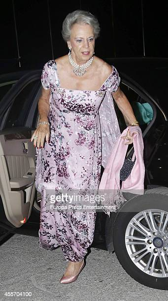 Princess Benedikte of Denmark attends private dinner to celebrate the Golden Wedding Anniversary of King Constantine II and Queen Anne Marie of...